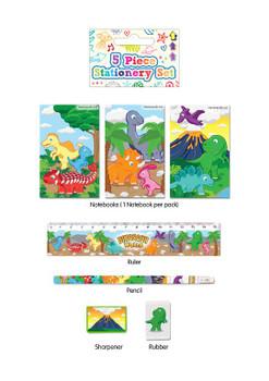 5 Piece Dinosaur Stationery Set