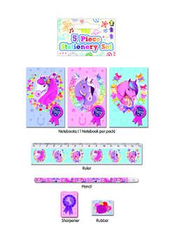 5 Piece Pony Stationery Set