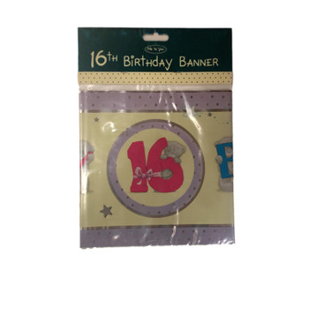 Me To You 16th Birthday Bear Banner