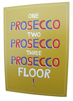 Prosecco Humour Blank Card by Quitting Hollywood