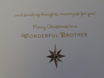 Brother Christmas Card Happy Moments