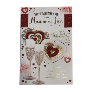 To The Man In My Life Happy Valentine's Day Card