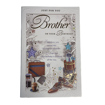 Brother On Your Birthday Time To Celebrate Opacity Card