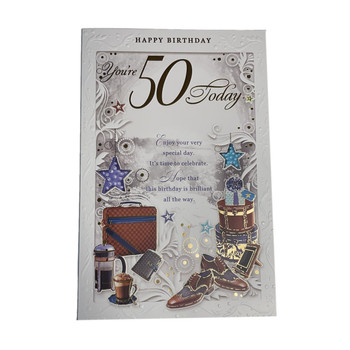 You're 50th Today Time To Celebrate Birthday Opacity Card