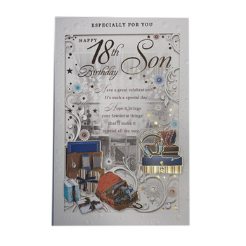 18th Birthday Son Have a Great Celebration Opacity Card