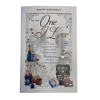 One I Love Birthday Filled With Lots of Joy & Happiness Opacity Card