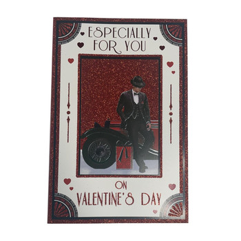 Especially For You Man With Vintage Car Design Open Valentine's Day Card