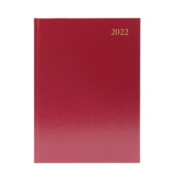 2022 A5 Week To View Burgundy Desk Diary