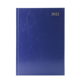 2022 A5 Week To View Blue Desk Diary