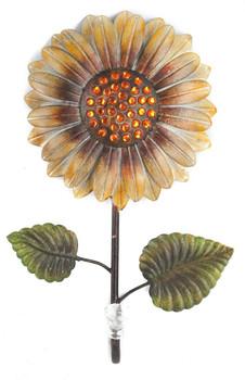Juliana Home Living Coat Hook Sunflower Metal Wall Art