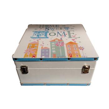 Blue Eyed Sun New Home Cream Leatherette Storage Boxes Set of Two Keepsake Boxes