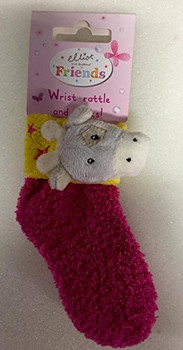 Girl or Boys Elliot & Buttons Friends Wrist Rattle and Socks Set New Baby Gift