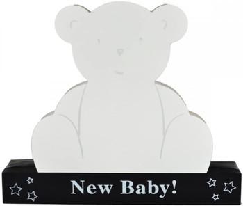 Signature Plaque New Baby Teddy Bear