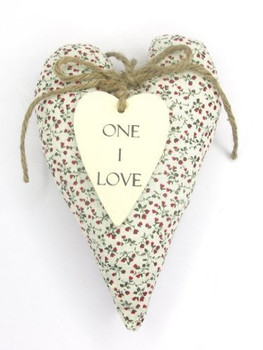Sentiments Hanging Heart Cushion One I Love