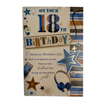 On Your 18th Have a Brilliant Time Birthday Card