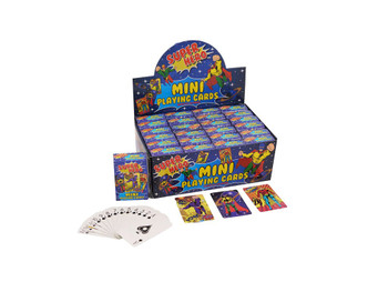 6x4cm Mini Superhero Playing Cards