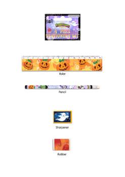 4 Piece Halloween Stationery Set