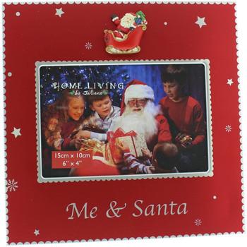 Christmas Photo Frame with 3D Santa Me & Santa