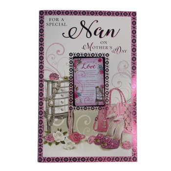 For A Special Nan Shoes And Purse Design Mother's Day Card