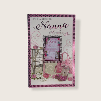 For A Special Nanna Shoes And Purse Design Mother's Day Card