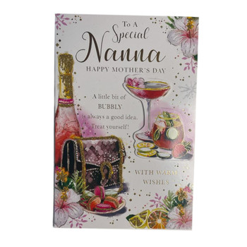 To A Special Nanna A Little Bit of Bubbly Mother's Day Card