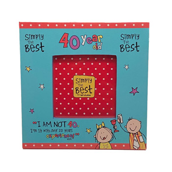 Simply The Best 40 Year Old Photo Frame