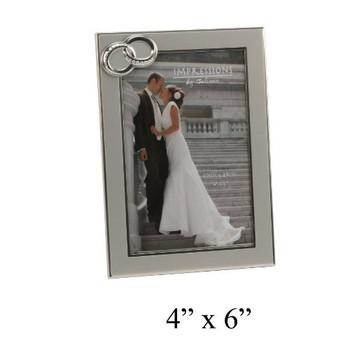 "Aluminium Two Tone Ring Icon Photo Frame Gift Keepsake Impressions 4"" x 6"""