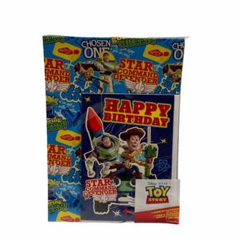 Toy Story 1 Gift wrap and 1 Card with Envelope