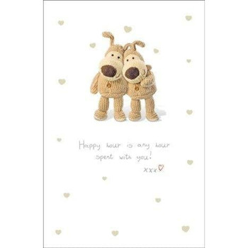 Boofle Greeting Card Happy Hour Is Any Hour Spent With You
