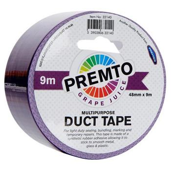 48mm x 9m Multipurpose Grape Juice Purple Duct Tape by Premto