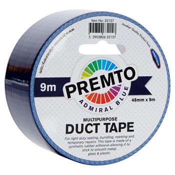 48mm x 9m Multipurpose Admiral Blue Duct Tape by Premto