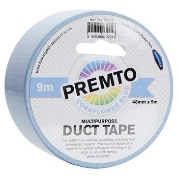48mm x 9m Multipurpose Pastel Cornflower Blue Duct Tape by Premto