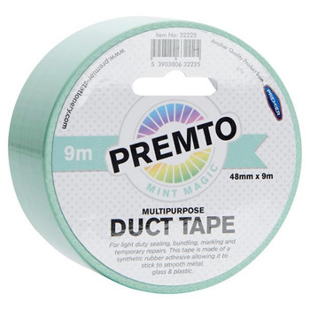 48mm x 9m Multipurpose Pastel Mint Magic Green Duct Tape by Premto