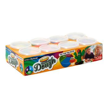 Set of 8 90g Tri-pots Modelling Clay Dough