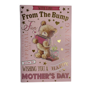 From The Bump Teddy Holding Gift Design Mother's Day Card