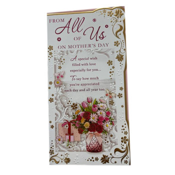 From All of Us Flower Pot Design Mother's Day Card