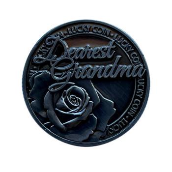 Dearest Grandma Lucky Coin Engraved Message Keepsake Gift
