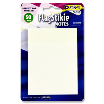 Pack of 50 70 x 96mm Clear Transparent Sticky Notes by Stik-ie