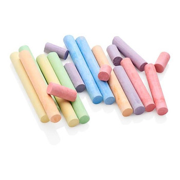 Box of 12 Coloured Chalk by World of Colour