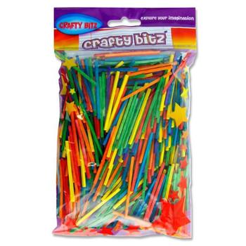 Bag of 75g Coloured Matchsticks by Crafty Bitz