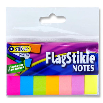 Pack of 140 Flag Page Markers Sticky Notes by Stik-ie