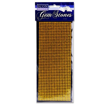 Pack of 1000 Self Adhesive Gold Gem Stones by Icon Craft