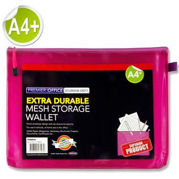 A4+ Extra Durable Fandango Purple Mesh Wallet by Premto