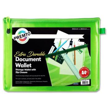A4+ Extra Durable Caterpillar Green Mesh Wallet by Premto