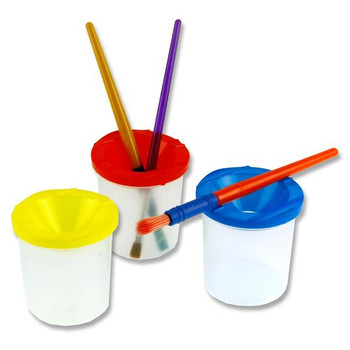 Set of 3 Non Drip Paint & Water Pots by World of Colour