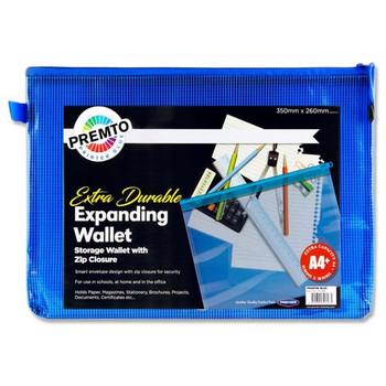 A4+ Extra Durable Printer Blue Mesh Wallet by Premto