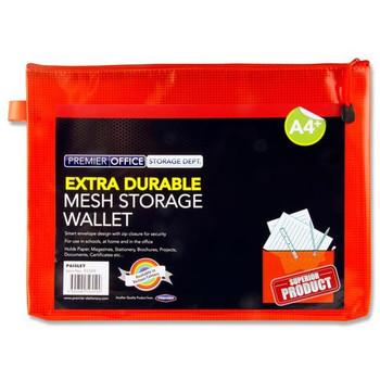 A4+ Extra Durable Pumpkin Orange Mesh Wallet by Premto