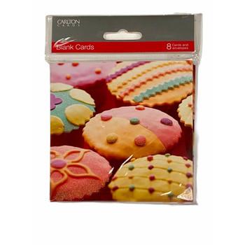 UK Greetings Blank Card Pack of 8 Cupcake
