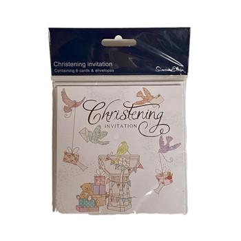 6 Luxury Christening Card Invites Invitations and Envelopes