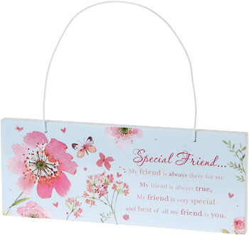 Wishing Well Special Friend Words of Endearment Sentimental Wall Plaque